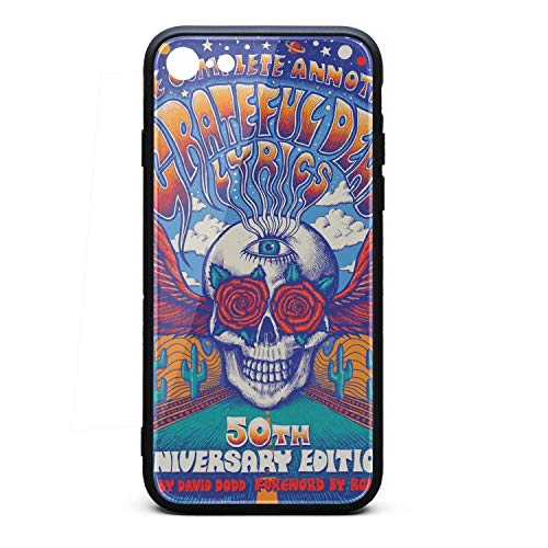 Wudo iPhone 7 iPhone 8 Case The-Complete-annotated-Grateful-Dead-Lyrics- TPU Full Protective Back Cover for iPhone 7 iPhone 8 (Annotated Cases)