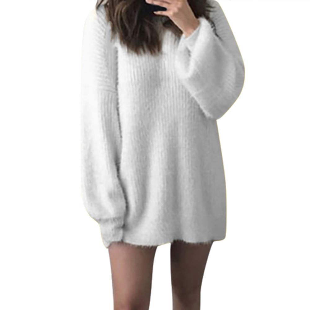 Jchen Fashion Womens Ladies Casual Long Sleeve Jumper V Neck Loose Autumn Spring Winter Sweaters Blouse Tops TM