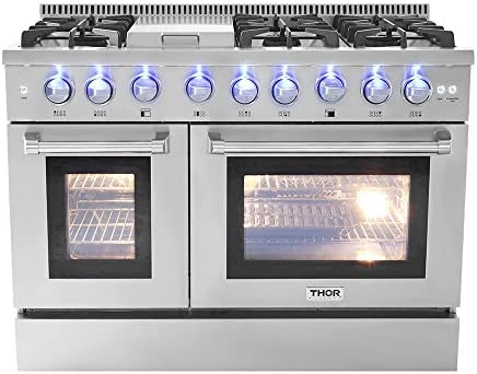Surprising 48 6 Burner Gas Range With Double Oven And Griddle Home Interior And Landscaping Ponolsignezvosmurscom