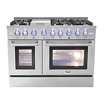 48u0026quot; 6 Burner Gas Range With Double Oven And Griddle