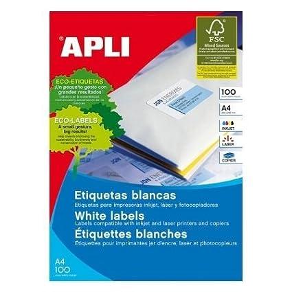 APLI 01263 Color blanco etiqueta de impresora - Etiquetas de ...
