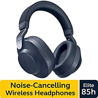 Jabra Elite 85h Wireless Noise-Canceling Headphones, Navy - Over Ear Bluetooth Headphones Compatible with iPhone and Android - Built-in Microphone, Long Battery Life - Rain and Water Resistant (B07RS8B5HV) | Amazon price tracker / tracking, Amazon price history charts, Amazon price watches, Amazon price drop alerts