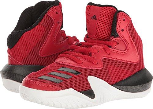 adidas Performance Kids Shoes | Crazy Team K Skate, Scarlet/Black/White, (5.5 M US)