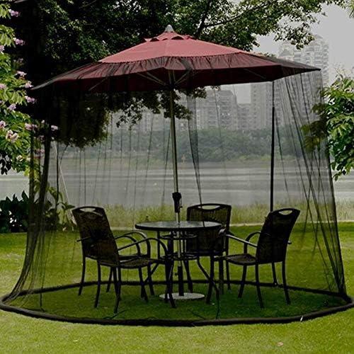 パラソル パラソル蚊帳パティオ傘バグ画面ジッパードア、屋外ガーデン傘表画面蚊帳カバー、ポリエステルネッティング