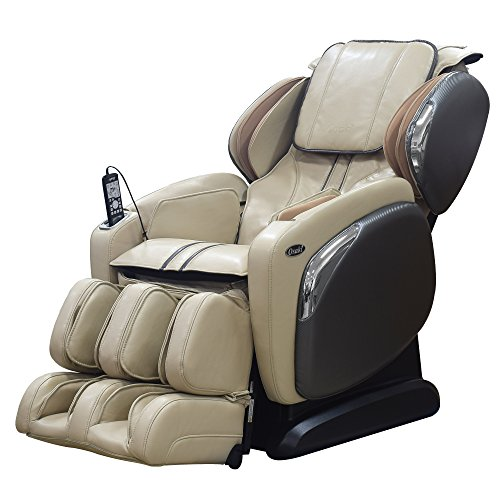 Osaki OS-4000LS Zero Gravity Massage Chair, Foot Rollers, L-Track Design, Space Saving (Ivory)