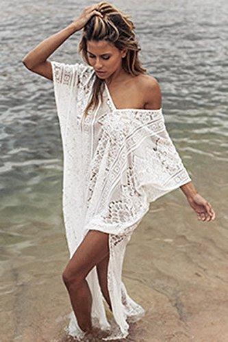Ricamato Maxi Spiaggia Mall Chimono Stampare Beachwear Chiffon Boemia 3 Geometria Coprire Crepuscolo Superiore Modello Indiano Ho xpvtwv