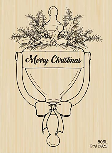 - Christmas Door Knocker Rubber Stamp by DRS Designs Rubber Stamps