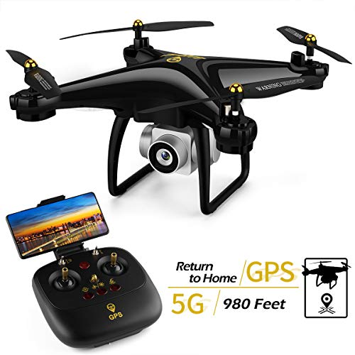JJRC H68G Drone with GPS Return Home FPV Drone with Camera for Adults Quadcopter with 980ft Long Control Distances, Follow Me, 2 Batteries in 30 Mins(Black)