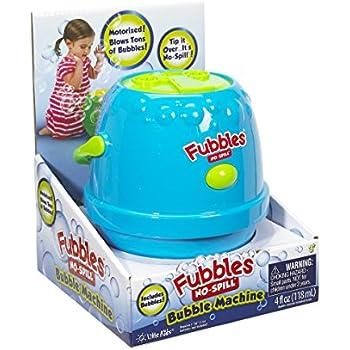 Little Kids Fubbles No-Spill Motorized Bubble Machine in Blue, Includes 4oz Bubble Solution