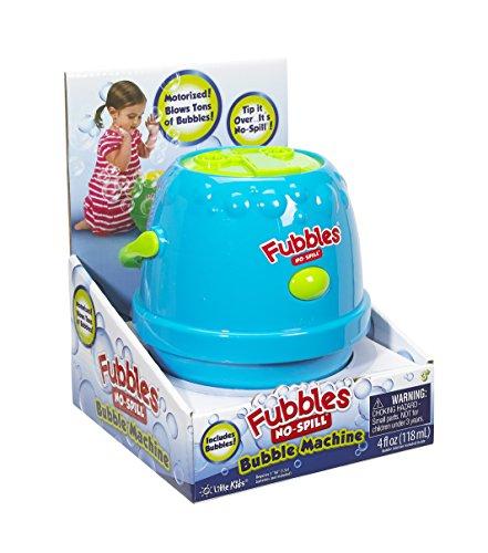 Price comparison product image Little Kids Fubbles No-Spill Motorized Bubble Machine in Blue, Includes 4oz Bubble Solution