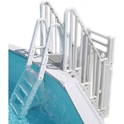 Confer Plastics Safe and Secure Swimming Pool Entry System for Above Ground Pools with Gate