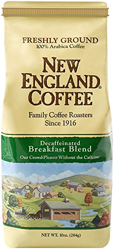 New England Coffee New England Breakfast Blend, Decaffeinated, 10 Ounce Ground Decaffeinated Coffee