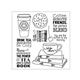 Seaskyer Drink Tea DIY Silicone Clear Stamp Cling Seal Scrapbook Embossing Album Decor