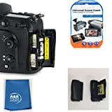 SD Memory Card Door Cover For Nikon D7100 D7200 Repair Part + KIT & A&R Lens Cloth and LCD Protector