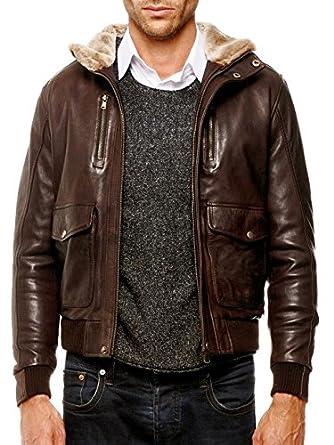 babb5903ca ARTURO - Blouson Cuir Homme rebal Taille Homme - S, Couleur - Marron:  Amazon.co.uk: Clothing