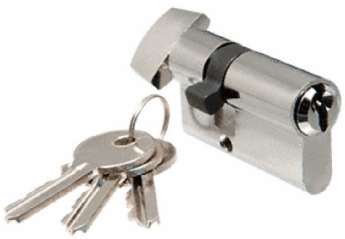 CRL Brushed Stainless Keyed Cylinder Lock With Thumbturn by CR Laurence