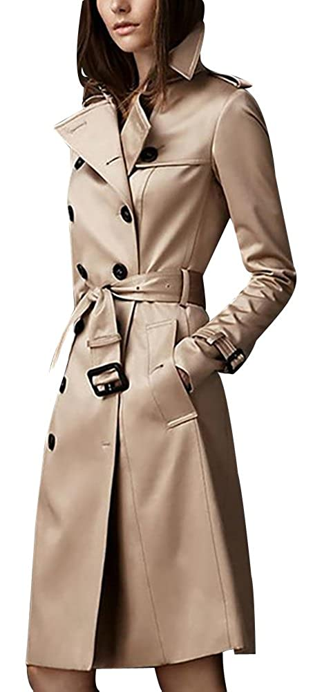 ilishop Women's Elegant Jacket Silm Long Trench Coat CY-NWT2202