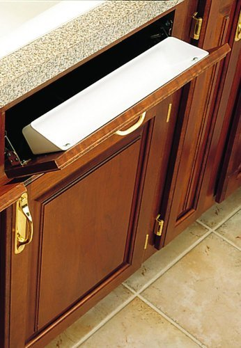 Rev-A-Shelf 2 Piece 6581 Sink Front Tray, Standard, White ()