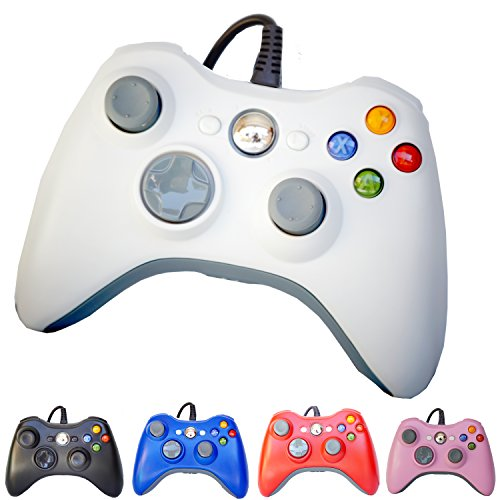 (FiveStar USB Wired Game Pad Controller for Use With Xbox 360, Windows 7 (X86) Windows 8 (X86) 5 Color)