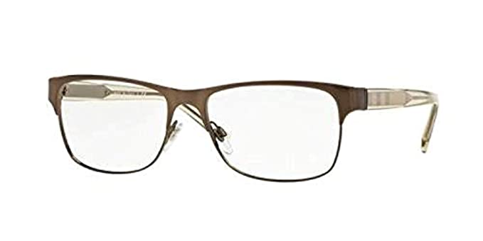 81c4749ad59f Burberry Men s BE1289 Eyeglasses Brushed Brown 55mm at Amazon Men s Clothing  store