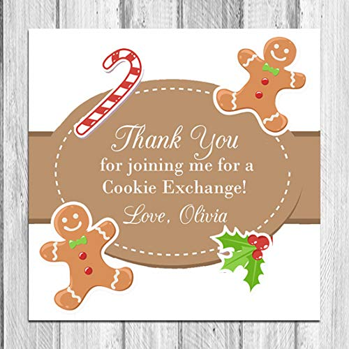 Christmas Gingerbread Men Gift Tags