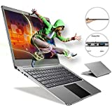 Fenniu Ultra Thin 14 inch laptop Computer intel Apollo Lake Celeron N3450 4GB Ram 64GB eMMC Supports M.2 SSD Upgrade(Up to 512 GB), USB 3.0, Bluetooth, Type C, Webcam, Windows 10 PC, Gray