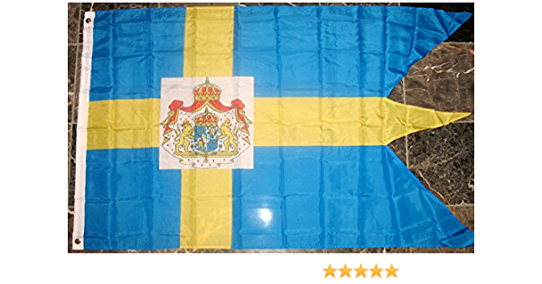 Sweden Royal Flag 3x5ft Swedish Royalty Banner Flag Royal Swedish Seal Flag