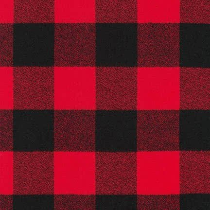 Robert Kaufman Kaufman Mammoth Flannel Buffalo Check Large Red Fabric By The Yard (Red Flannel Fabric Plaid)