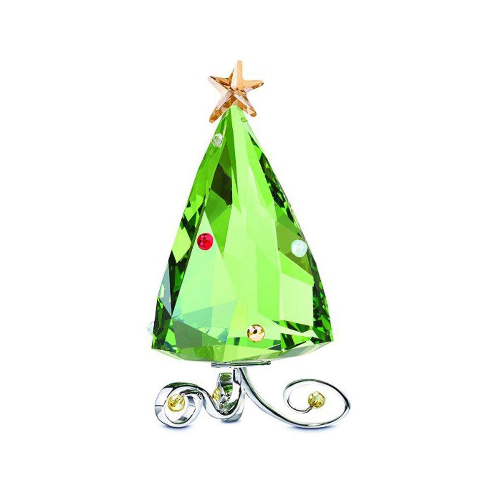 5155709 Swarovski Crystal Winter Christmas Tree Figurine Swan Signed