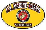 1-Pc Good Popular USMC Marine Corps Veteran Stickers Signs Military Indoor Vinyl Size 4.5