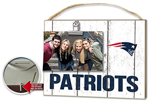 KH Sports New England Patriots Weathered Clip-It Photo Frame
