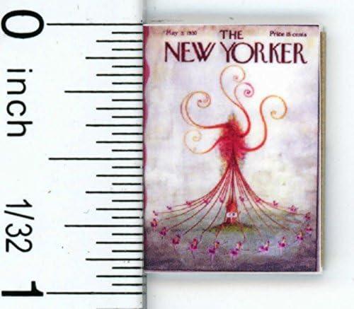 ドールハウスミニチュアVintage New Yorker Magazine by cindi039 ; S mini039 ; S