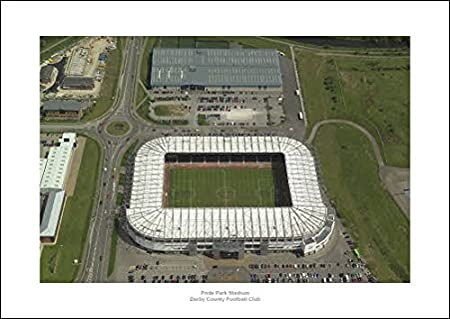 Derby County Pride Park Stadium Aerial View 42x30cm Photo Amazon Co Uk Sports Outdoors