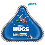 HERSHEYS HUGS Christmas Chocolate Candy with White Crème (Red, Green, and Silver Foils), Stocking Stuffer, 200 Gram
