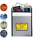 Fireproof Safe, Enord Fire Safe Waterproof Fireproof Safety Bag(9''x11'')/ Home Safe Storage Fibreglass Pouch For Bank Cards Passport Cash Money Birth Certificate and RC Lipo Battery