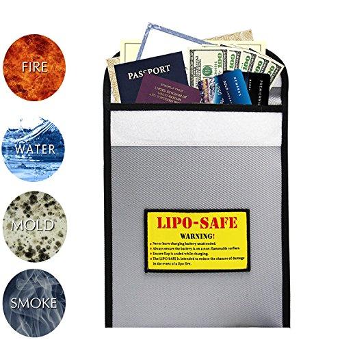 Fireproof Safe,Enord Fire Safe Heat Fire Water Resistant Bag (7