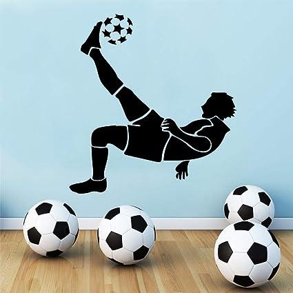 Exquisito Fútbol Pegatinas de Pared para niños dormitorio Decoración fútbol pegatinas papel tapiz Sala de estar Niños Habitación Decoración de pared Murales 58x62 cm: Amazon.es: Bebé