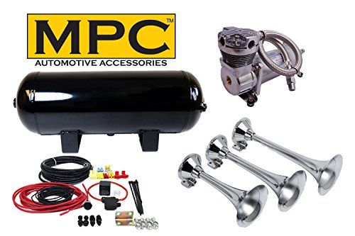 MPC Complete 150-200 PSI Maximum Oversize Triple Train Air Horn System ()