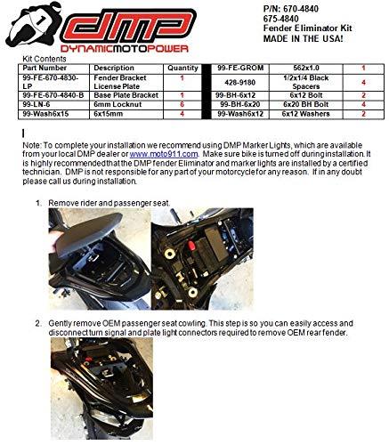 DMP Kawasaki Z900 2017-2019 DMP Fender Eliminator Kit Made in the USA 670-4840