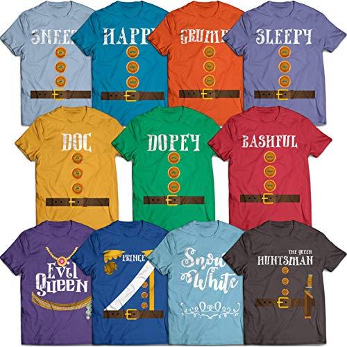 Dwarfs Squad Costume Prince Charming Evil Queen Halloween Group Matching Costume Customized T-Shirt | Long-Sleeve | Hoodie | Tank Top | Sweatshirt -