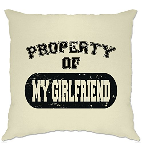 Property Of My Girlfriend Distressed Look Funny Joke Valentines Gift For Him Mens T-shirt Cushion Cover Cool Funny Gift Present Home Lounge Sofa (Cheap Settee For Sale)