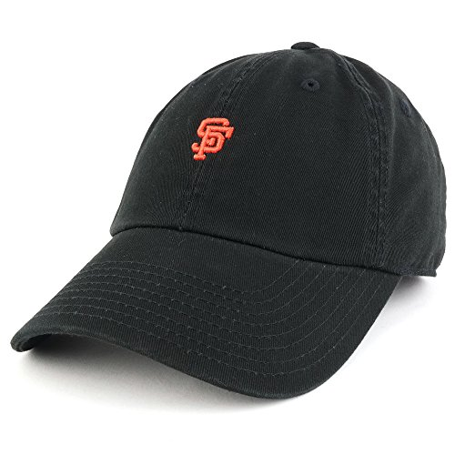 Trendy Apparel Shop San Francisco SF Team Micro Logo Embroidered Unstructured Baseball Cap - (Team Logo Unstructured Cap)
