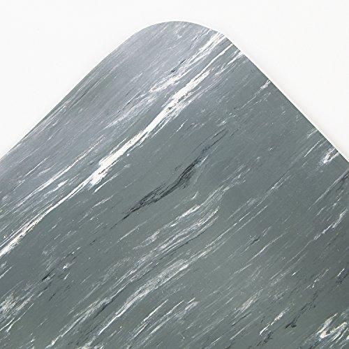 Crown CU3672GY Cushion-Step Surface Mat 36 x 72 Marbleized Rubber Gray, 36 x 72, ()