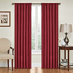 Eclipse 10707042X063RBY Kendall 42-Inch by 63-Inch Thermaback Blackout Single Panel, Ruby