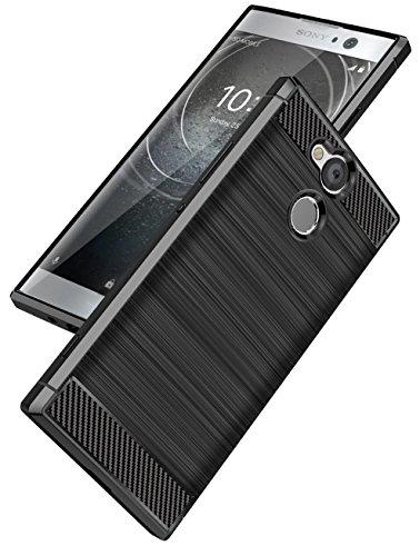 Funda Sony Xperia XA2,Funda Fibra de carbono Alta Calidad Anti-Rasguño y Resistente Huellas Dactilares Totalmente Protectora Caso de Cuero Cover Case Adecuado para el Sony Xperia XA2 A