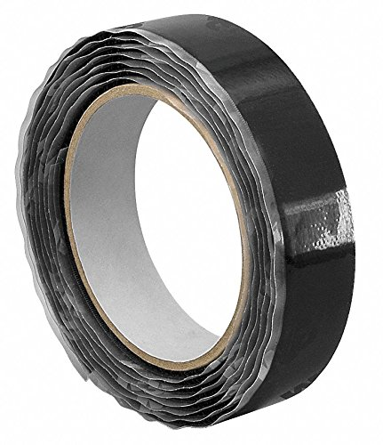 3m Hook-Type Reclosable Fastener with Acrylic Adhesive, Black, 1