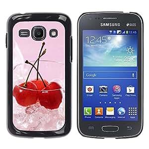 Paccase / SLIM PC / Aliminium Casa Carcasa Funda Case Cover - Fruit Macro Ice Cherry - Samsung Galaxy Ace 3 GT-S7270 GT-S7275 GT-S7272