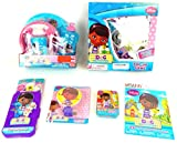 Disney Jr Doc McStuffins 11 pc Travel Learning Game Activity Gift Set Bundle Disney Jr Doc McStuffins