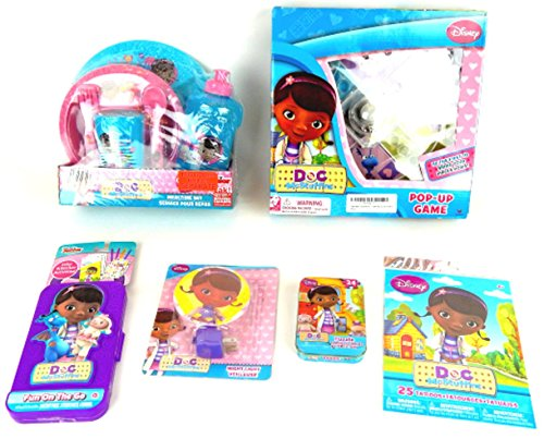 Disney Jr Doc McStuffins 11 pc Travel Learning Game Activity Gift Set Bundle (Snowman Make Up)