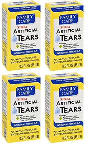 Artificial Tears Solution - Family Care Original Formula Sterile Lubricant Artificial Tears, 4-pk (2 ounces)